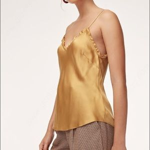Wilfred Ruffle Camisole in Cairo gold size medium